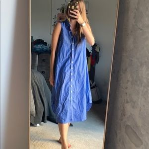 Eight and sand button up dress